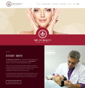 artofbeautyclinic.ro - Site Web Clinica Infrumusetare