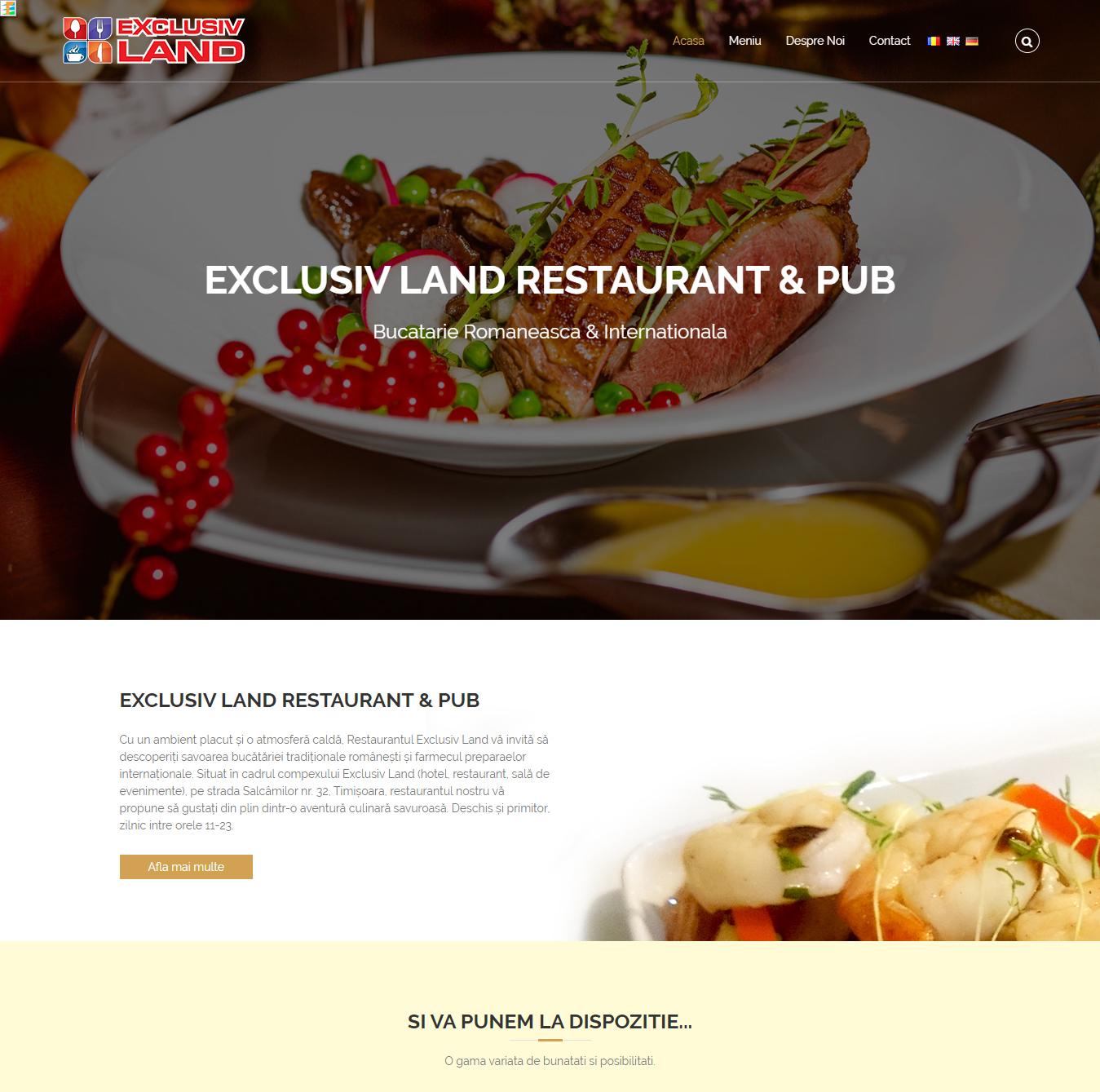 restaurantexclusiv.ro - Site Web Restaurant