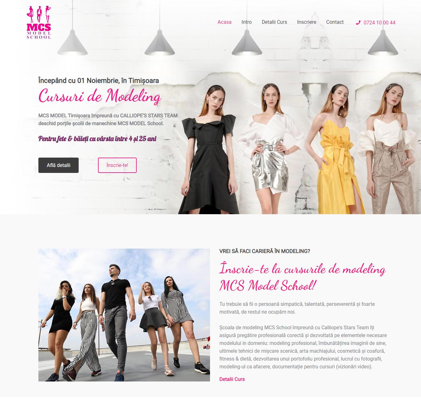 school.mcsmodel.ro Scoala Modeling One Page Website